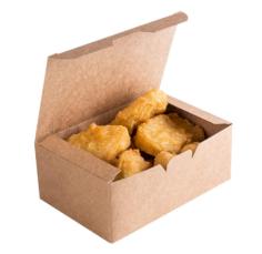 ECO take away fast food box Kraft 150x91x70mm brun L 900ml