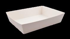 Barquettes de snack 245x180x60mm GC 290gr avec revêtement bio conique