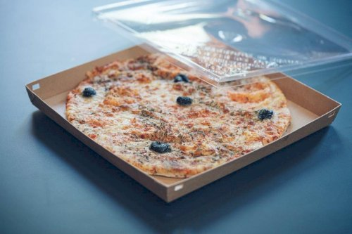 Pizzadoos bodem karton 290x290x35mm zwart Vision+
