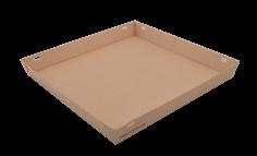 Pizzaschachtelboden Karton 290x290x35mm zwart Vision+ Deckel 441138