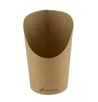 Tortilla/wrap cup kraft FSC 60mm 118mm met PLA coating