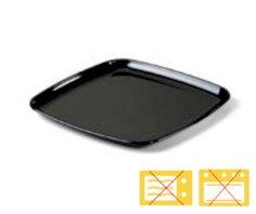25 Schale PS viereckig 35x35 cm schwarz