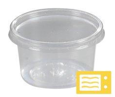 500 Rohkostbehälter PP rund, 115 mm 350 ccm spritzgegossen, transparent
