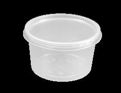500 Rohkostbehälter PP rund, 115 mm 500 ccm spritzgegossen, transparent