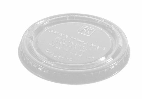 Deksel PLA rond tbv sauscup 445304
