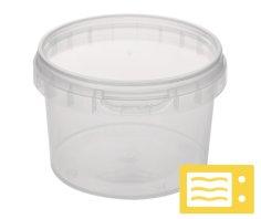 432 Ringverschluss-Behälter, 280 ml Durchmesser 95 mm transparent inklusive Deckel