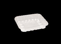 Vleesschaal PET 126x103x25mm transparant, 280my, KS25