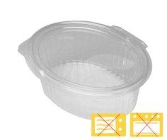 400 Salatbehälter APET, 166 x 129 x 45 mm 390cc+fester Deckel