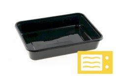 500 Behälter PP, 183 x 135 x 35 mm, 500 ccm schwarz spritzgegossen
