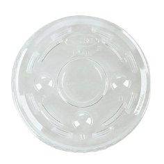2500 Bio-Deckel PLA mit Kreuzverschluss transparent für Art. 449500