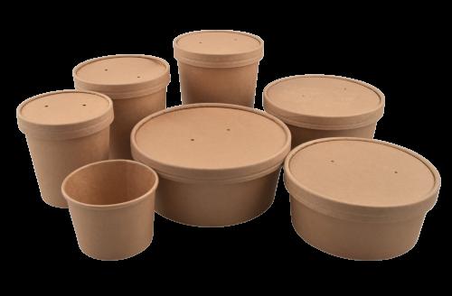 Multi foodpot kraft 750ml bruin dia 148mm