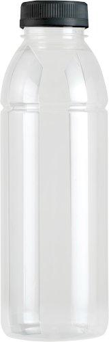 Fles PET transparant 330cc (inclusief dop zwart)