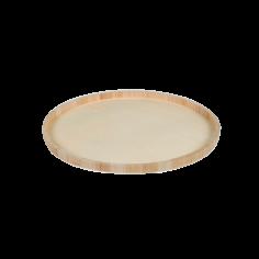 Houten serveerbord diameter 45cm diepte 2cm - degustatie