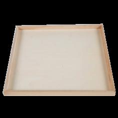 Houten serveerbord 38x38x2cm vierkant - degustatie