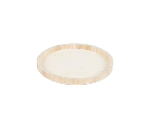 Houten serveerbord diameter 25cm diepte 2cm - degustatie