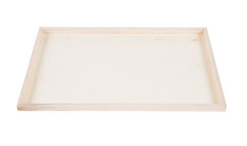 Houten serveerbord 60x40x2cm rechthoekig - degustatie