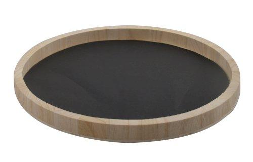 Voedselveilig papier Ø23cm zwart tbv houten serveerbord 453215