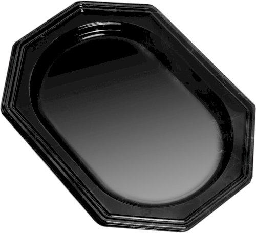Caterwareschaal PS 430x280mm 8-hoekig 1-vaks zwart