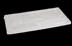 Deksel DPET 254x125x20mm transparant voor maaltijdbak 3 vaks 456009