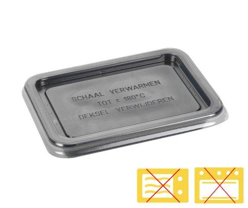 Deksel  APET tbv cpetschaal 171x127mm transparant art.456039+456076
