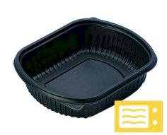 252 Behälter für Mahlzeiten PP, 900 ccm schwarz 190x150x35mm