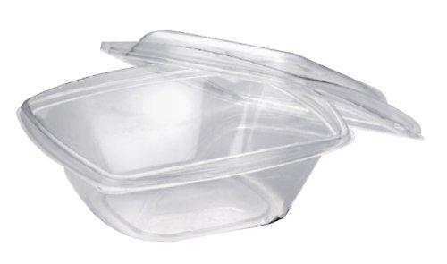 Bio-saladeschaal PLA 360ml 126x126x72mm met deksel