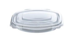 Salatbehälter PLA 16,1x13x3,1cm transparent 250ml mit festem Deckel