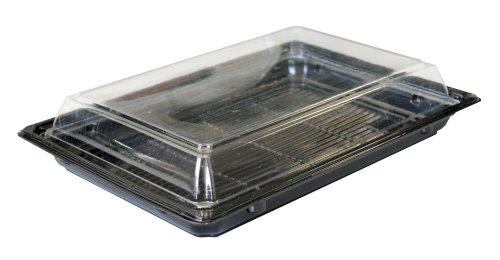 Sushi bak bodem APET 214x142x27mm zwart (deksels: 456504)