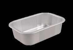 Schaal aluminium 220x150x60mm 1380ml deksel:462611