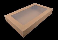 50 Catering-Kartons kraft 46x32x8 cm