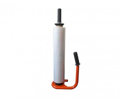 Handafroller metaal 50cm zwart/rood