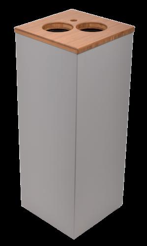 Bekerbak 24x24x60cm 34ltr Paxa M +opening tbv roerstaafjes+2 bekers grijs