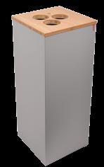 Bekerbak 30x30x72cm 65ltr Paxa L +opening tbv roerstaafjes+3 bekers grijs