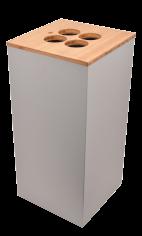 Bekerbak 35x35x72cm 90ltr Paxa XL +opening tbv roerstaafjes+4 bekers grijs