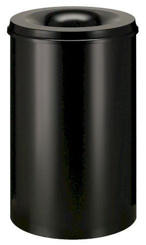 Papierbak vlamdovend metaal 110ltr zwart @47cm, hoogte 72cm inclusief profiel
