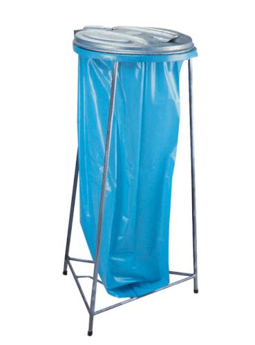 Afvalstandaard 40x103cm 110ltr staal verzinkt