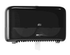 Tork Twin Coreless Mid-size Toilet Roll Dispenser zwart