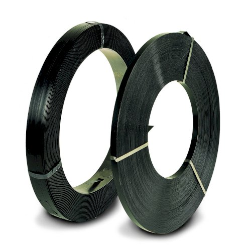 Staalband lintrol 16x0.5mm gelakt ca.24kg/rol ca.16m/kg trekkracht 7600N