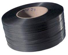Omsnoeringsband PP zwart 12x0.63mm kern 406mm trekkracht 170kg