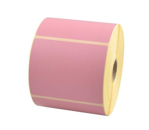 Etiket 90x74mm thermal licht roze afscheurbaar, afneembaar, watergedragen inkt