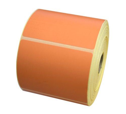 Etiket 90x74mm l. oranje(1565c) th thermal afscheurbaar afneembaar watergedragen inkt