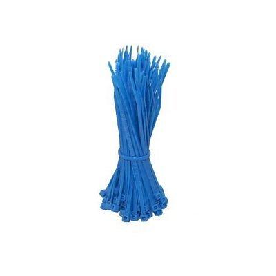 1000 Kabelbinder Nylon 200 x 4,8 mm blau, unreleasable