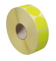 Etiket @35mm fluor geel permanent