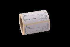 Étiquette RL-250 koeling 7 graden, 70x35mm blanc/noir, colle hydrosoluble