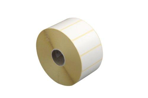 Averij etiket wit 75x38mm Materiaal: gloss extra permanent