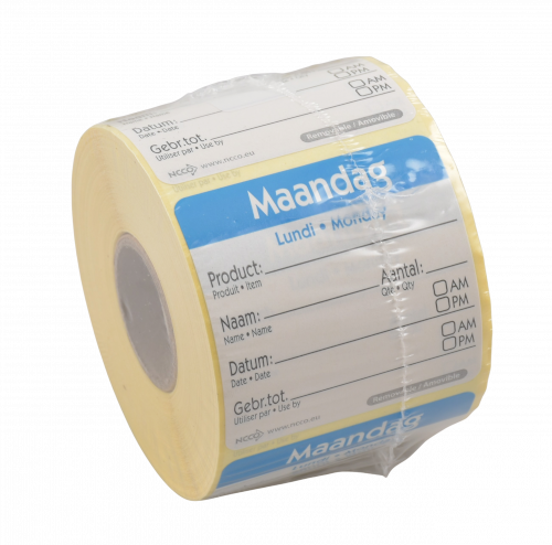 Etiket HACCP 50x50mm Maandag