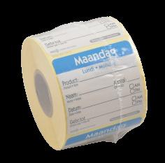 Roll-500-Etikett HACCP 50x50mm Maandag