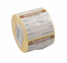 Roll-500-Etikett HACCP 50x50mm Donderdag