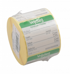 Roll-500-Etikett HACCP 50x50mm Vrijdag