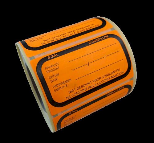 Etiket HACCP 70x42mm Staal